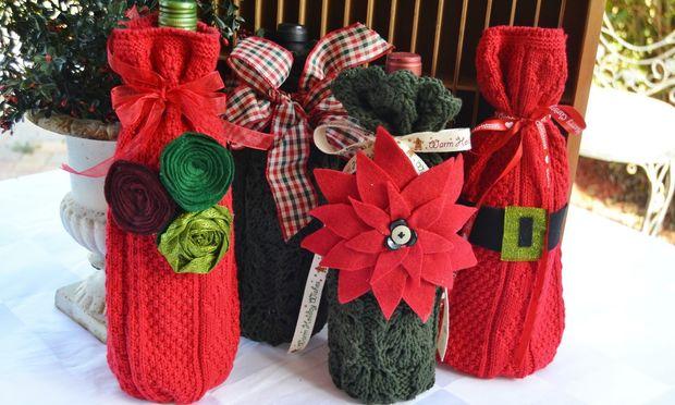 Ντύστε τα κρασιά και κάντε τα δώρο τα Χριστούγεννα. Δείτε πώς!