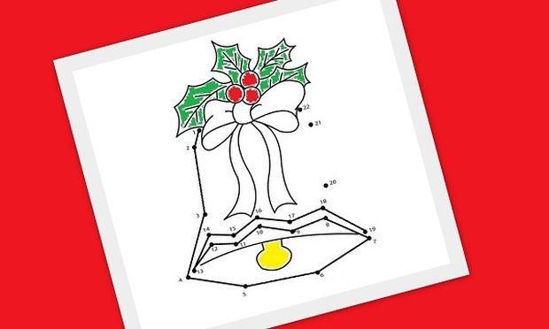 Ένωσε τις τελείες: 20 χριστουγεννιάτικες ζωγραφιές για να απασχολήσετε δημιουργικά τα παιδιά σας