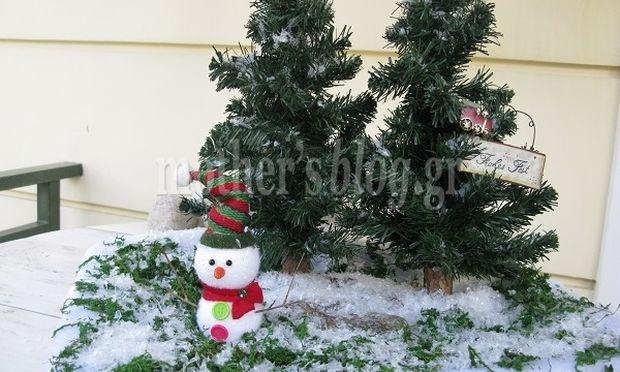 Φτιάξτε παρέα με τα παιδιά σας χιονισμένα έλατα για τις γιορτές