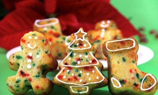 Χριστουγεννιάτικα funfetti cupcakes