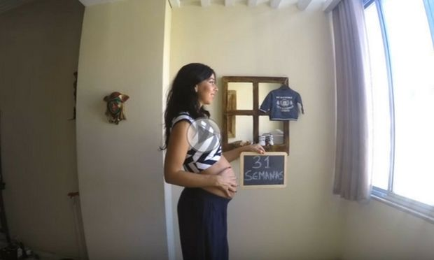 9 μήνες εγκυμοσύνης σε 3,5 λεπτά (βίντεο)