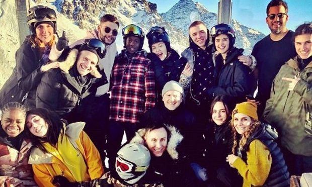Δες τη Madonna με τα παιδιά της στις πλαγιές της Ελβετίας
