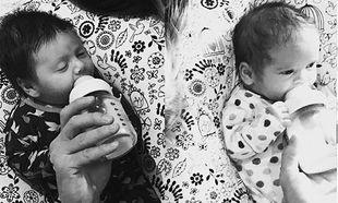 Διάσημος ηθοποιός μας συστήνει για πρώτη φορά τα νεογέννητα διδυμάκια του!