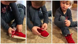 5χρονος καταφέρνει να δέσει τα κορδόνια του και γίνεται viral με τον τρόπο που το κάνει (vid)