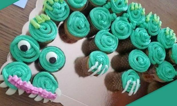 Τούρτα «Δράκος» από cupcakes. Φτιάξτε τον και εντυπωσιάστε τους φίλους του παιδιού σας