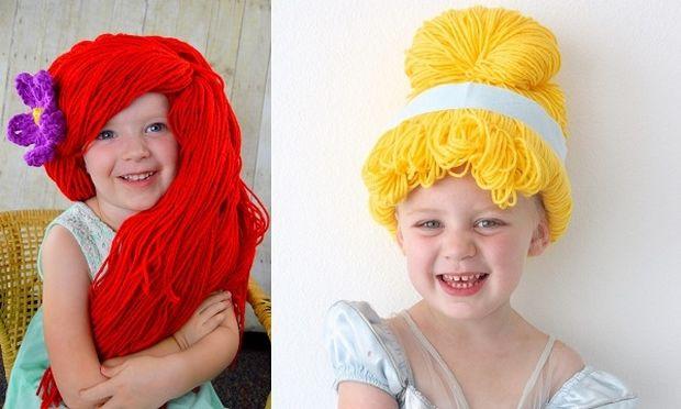 Φτιάξτε αποκριάτικες παιδικές περούκες από μαλλάκι πλεξίματος-10 σχέδια για να διαλέξετε