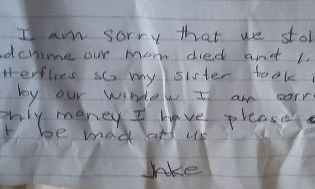 Ενα αγοράκι έκλεψε την ονειροπαγίδα της... και άφησε ένα στενάχωρο σημείωμα