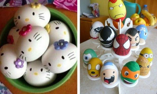10 πρωτότυπες ιδέες για να βάψετε τα πασχαλινά αυγά