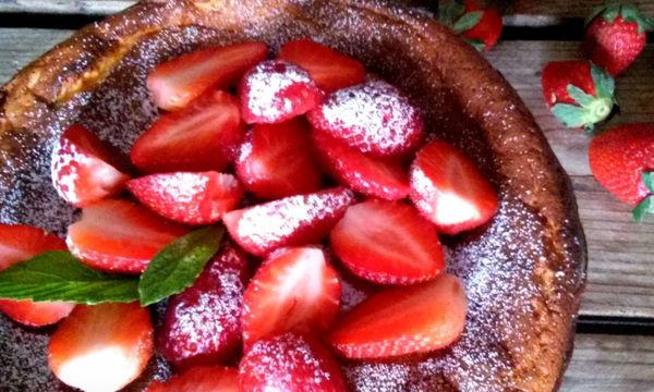 Ένα κέικ-cheesecake στο φούρνο