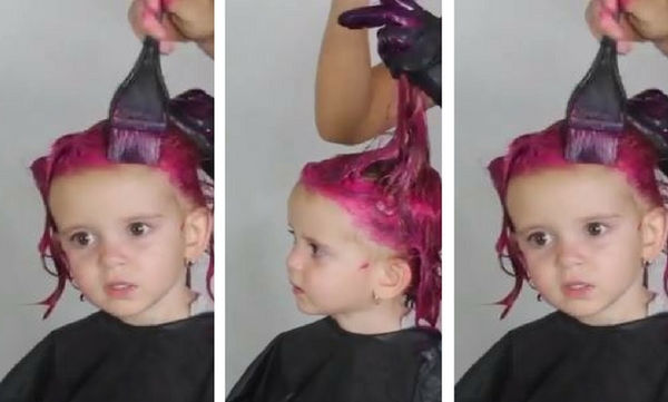 Θα βάφατε ποτέ τα μαλλιά της κόρης σας; Αυτή η μαμά το έκανε