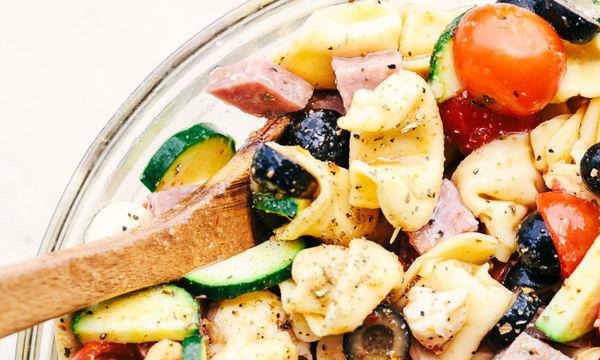 Σαλάτα με τορτελίνια και λαχανικά