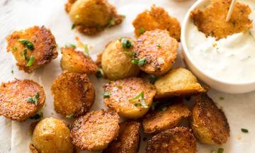 Τραγανές baby πατάτες με παρμεζάνα - Εύκολες και νόστιμες