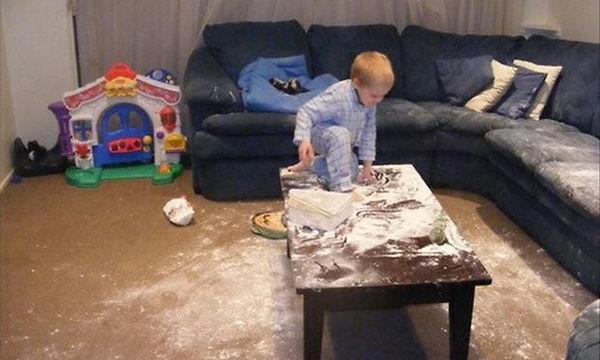 Το παιδί σας προκαλεί χάος στο σπίτι; Υπάρχουν και χειρότερα (photos)