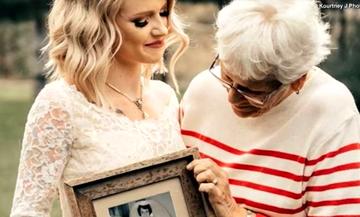Η εγγονή έβαλε στο γάμο της το νυφικό της γιαγιά της - Η ιστορία που συγκίνησε το Διαδίκτυο