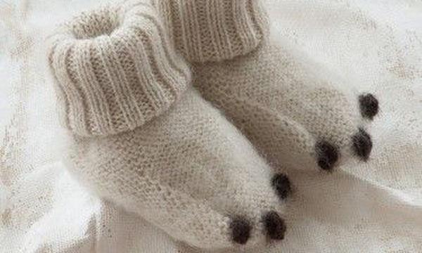 Παιδικές καλτσοπαντόφλες για ζεστά πόδια