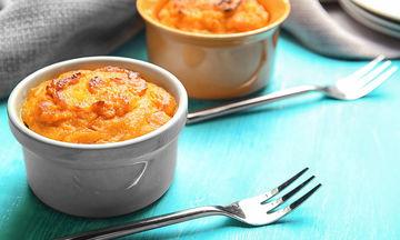 Συνταγή για νόστιμο σουφλέ λαχανικών με παρμεζάνα!