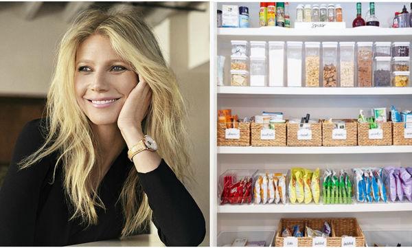 Οργάνωσε τα ντουλάπια της κουζίνας σου, όπως η Gwyneth Paltrow
