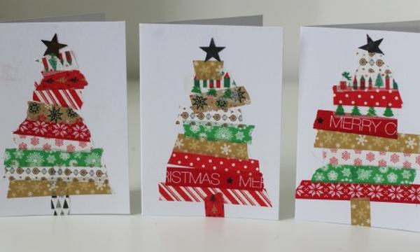 Χειροτεχνίες για παιδιά: Φτιάξτε εύκολα, όμορφες χριστουγεννιάτικες κάρτες