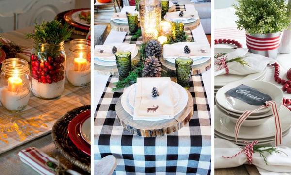 Τριάντα χριστουγεννιάτικες ιδέες για να διακοσμήσετε την τραπεζαρία σας