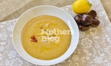Βελουτέ σούπα κάστανο με γλυκόξινο λεμόνι από τον Γιώργο Γεράρδο