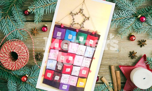 DIY: Παιδικό κρεμαστό χριστουγεννιάτικο ημερολόγιο με τσέπες