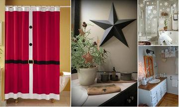 Χριστουγεννιάτικη διακόσμηση μπάνιου! 60 ιδέες για να στολίσετε ακόμη και το μπάνιο σας
