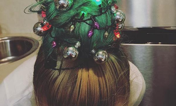 Η νέα τάση στα χριστουγεννιάτικα χτενίσματα είναι ο, τι πιο περίεργο έχουμε δει (pics)