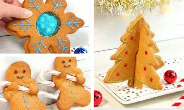 Φτιάξτε αυτά τα τρία χριστουγεννιάτικα μπισκότα - Είναι νόστιμα και εντυπωσιακά