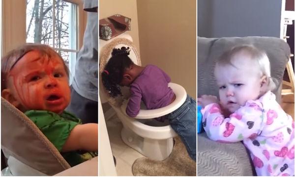 Τα πιο αστεία βίντεο με ατυχήματα παιδιών. Θα σας φτιάξουν τη μέρα (vds)