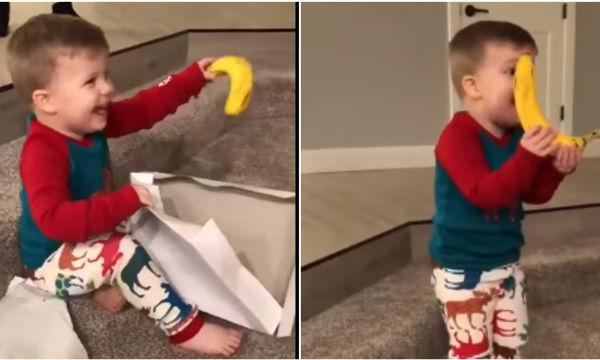 Η αντίδραση 2χρονου αγοριού στο δώρο του Άγιου Βασίλη είναι ένα μάθημα για όλους τους ενήλικες (vds)