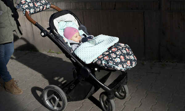 Αδιάβροχος βελούδινος ποδόσακος για μωρά