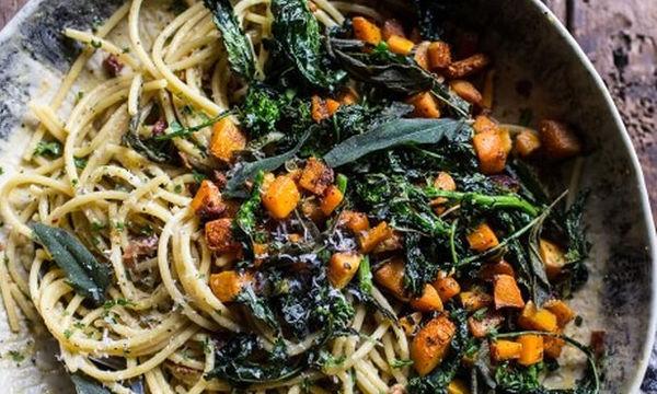 Συνταγές για μακαρονάδα! Καρμπονάρα με λαχανικά