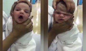 Νοσοκόμες πιέζουν το κεφάλι νεογέννητου αμέσως μετά τη γέννησή του και γελούν (vid)
