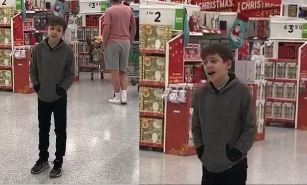 Παιδί με αυτισμό τραγουδά σε σούπερ μάρκετ και μας αφήνει άφωνους με την εκπληκτική φωνή του (vid)