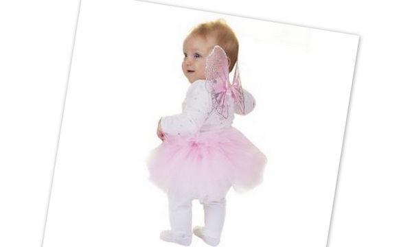 Αποκριάτικη στολή για μωρά: Νεραϊδούλα με φούστα τουτού και φτερά
