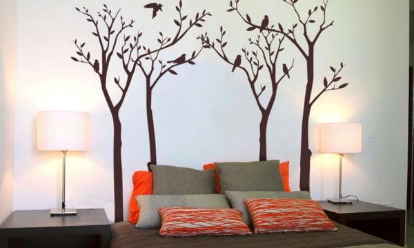Wall art στην κρεβατοκάμαρα: Τριάντα ιδέες για να επιλέξετε αυτή που σας ταιριάζει