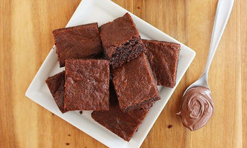 Brownies με Nutella, μόνο με 3 υλικά. Το ερωτικό γλυκό για την ημέρα του Αγίου Βαλεντίνου
