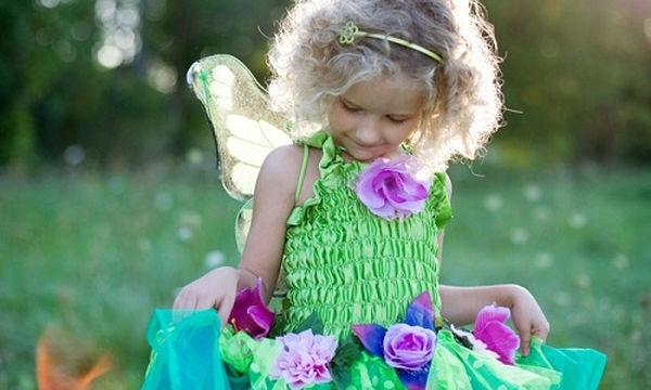 Αποκριάτικη στολή για κορίτσια: Νεράιδα με φτερά