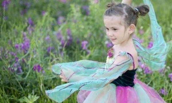 Αποκριάτικη στολή για κορίτσια: Ροζ Νεράιδα των Λουλουδιών