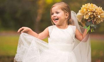 Πεντάχρονη φωτογραφίζεται ως νύφη λίγο πριν την επέμβαση ανοιχτής καρδιάς (pics)