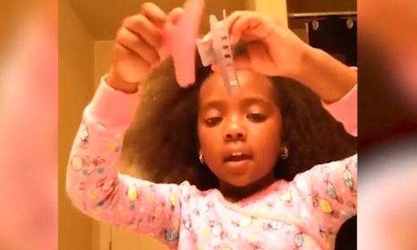 Το tutorial μαλλιών αυτής της 5χρονης είναι απολαυστικό (video)