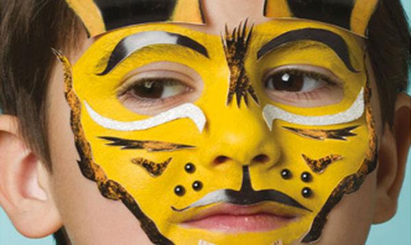 Αποκριάτικο facepainting για αγόρια: Τίγρης