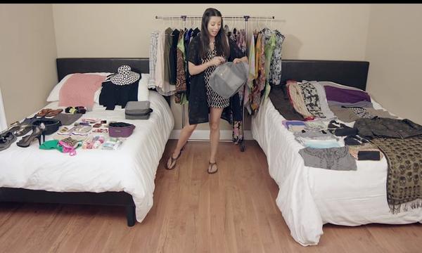 Απίστευτο! Δείτε πώς μπορούν να χωρέσουν πάνω από 100 πράγματα, μέσα σε μία μικρή βαλίτσα (vid)