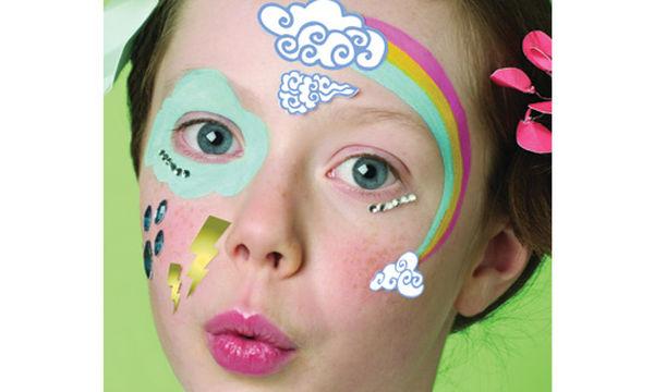 Αποκριάτικο face painting για κορίτσια: Ουράνιο τόξο