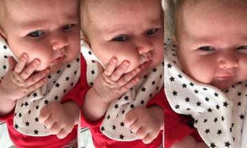 Πόση γλύκα πια! Αυτό το μωρό ξετρέλανε το διαδίκτυο με τα μαγουλάκια του (vid)