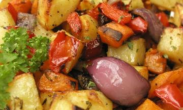 Ψητά λαχανικά με σως βαλσάμικο. Η υγιεινή νηστίσιμη επιλογή