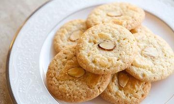 Συνταγή για τραγανά μπισκότα αμυγδάλου χωρίς βούτυρο