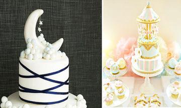 Δέκα τρεις εντυπωσιακές τούρτες για baby shower και βρεφικά πάρτι