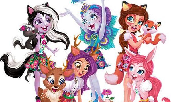 Ιδέες για πασχαλινή λαμπάδα: Κοριτσίστικη λαμπάδα Enchantimals Κούκλα & Ζωάκι Φιλαράκι
