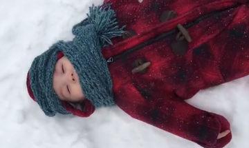 Η πρώτη εμπειρία με το χιόνι, κάτι παραπάνω από πολύτιμη (vid)